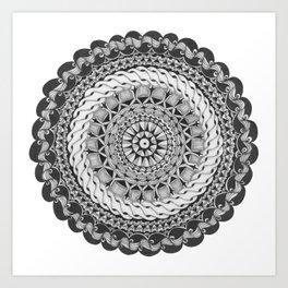 Zendala - Zentangle®-Inspired Art - ZIA 39 Art Print