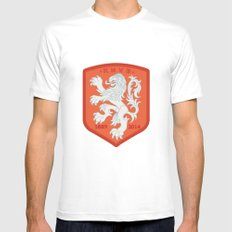 Holland 2014 Brasil World Cup Crest Mens Fitted Tee White SMALL