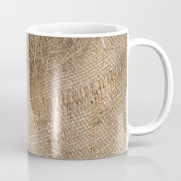 textured jute fabric for background and texture Coffee Mug