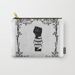 Black Lives Matter Power Fist Frame Carry-All Pouch