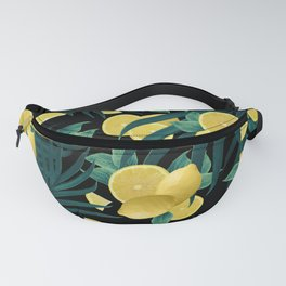 Summer Lemon Twist Jungle Night #1 #tropical #decor #art #society6 Fanny Pack