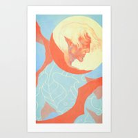 dragon age Art Prints featuring Dragon Age: Fenris by Couple Of Kooks
