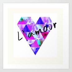 L'Amour Art Print