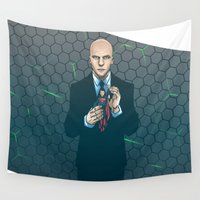 justice Wall Tapestries featuring Lex - Dawn of Justice  by Akyanyme