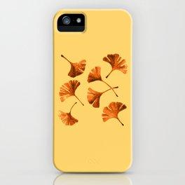 Orange Ginkgo iPhone Case