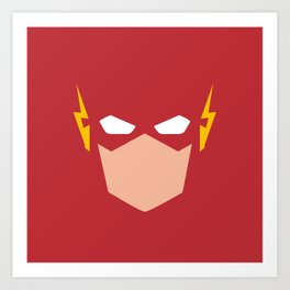 Flash Superhero Art Print