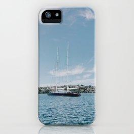 Nautical Boat in Sydney Harbor iPhone Case