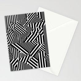 Dazzle Camo #01 - Black & White Stationery Cards