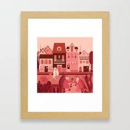 Neighborhood of love Framed Art Print