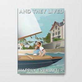 Cruising Poster Cruising Couple Metal Print
