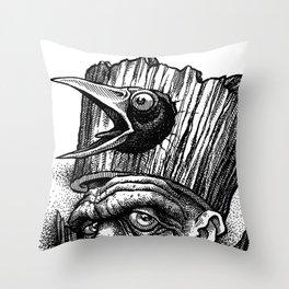 Caw Gawk! Throw Pillow