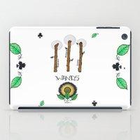 tarot iPad Cases featuring Wand Tarot Card by JESSIE WEITZ