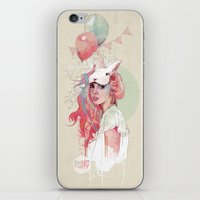 austin iPhone & iPod Skins featuring Sweet Party by Ariana Perez