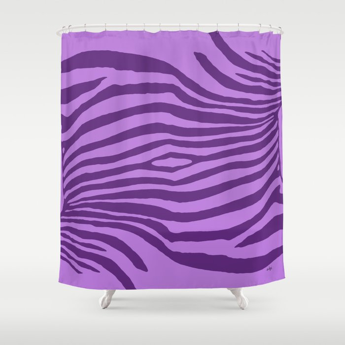 Animal Waves (Purple Mood) Shower Curtain