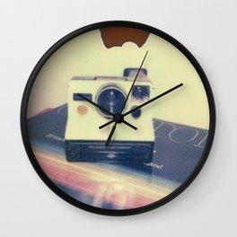 Polaroid Rainbow SX-70 on Record Wall Clock