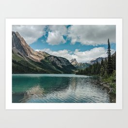 Sherbrooke Lake Art Print