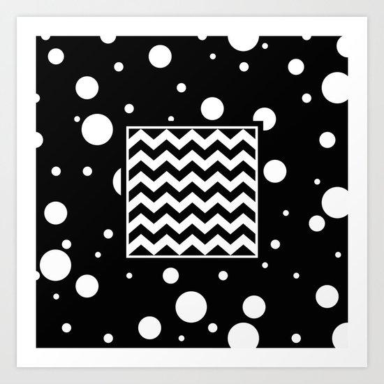 Chevron And Fizz Art Print