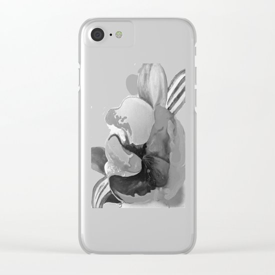 Burn The Flowers for Fuel Grey Clear iPhone Case