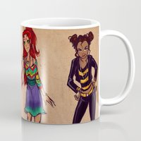 teen titans Mugs featuring Titans fashion by Gretlusky