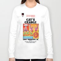 kurt vonnegut Long Sleeve T-shirts featuring Vonnegut - Cat's Cradle by Neon Wildlife