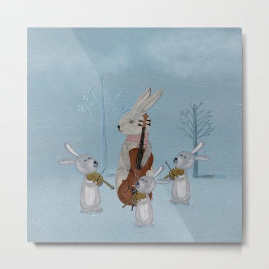 the bunny quartet Metal Print