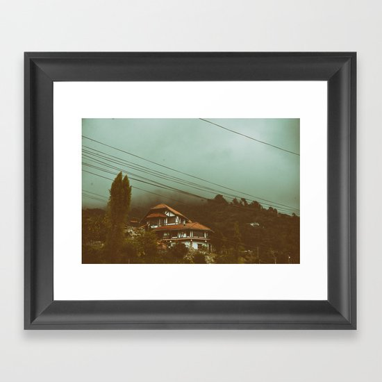 House in the Clouds Framed Art Print