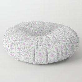 Rosettes in Purple and Green Floor Pillow