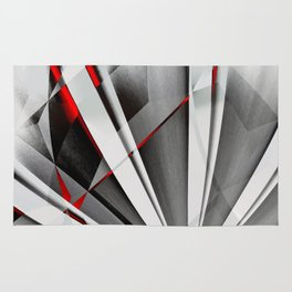 Red Gray Abstractum Rug