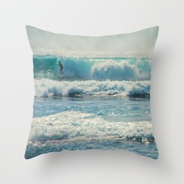 SURF-ACING Throw Pillow