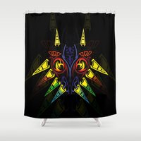 majora Shower Curtains featuring MAJORA MASK majora mask by Veylow