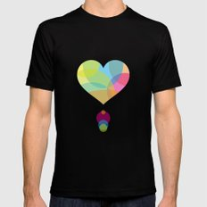 COLORS OF A HEART Black Mens Fitted Tee MEDIUM