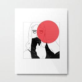 BANKS X RED Metal Print