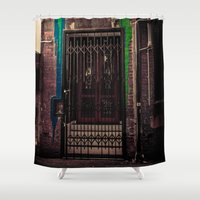 bar Shower Curtains featuring Bar Americano by Paul Vayanos