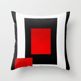 Geometric Abstraction - Red Throw Pillow