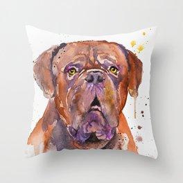 French Mastiff Throw Pillow