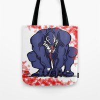 venom Tote Bags featuring Venom by Iron King