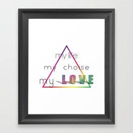 Love Pyramid Framed Art Print