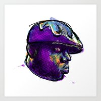 biggie smalls Art Prints featuring Biggie Smalls by William Benitez