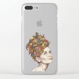 Hair Garden // twiggy with the cool hair Clear iPhone Case