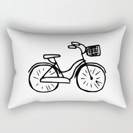 Bicycle Abstract Ink Drawing Rectangular Pillow
