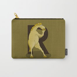 Monogram R Pony Carry-All Pouch