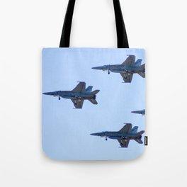 RAAF FA-18 Hornets - Formation Flying Tote Bag