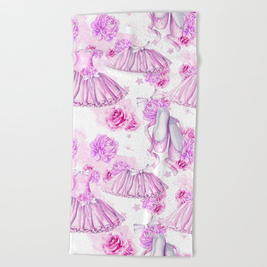 Ballerina #4 Beach Towel