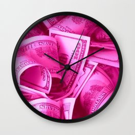 Pink Barbie Benjamins Wall Clock