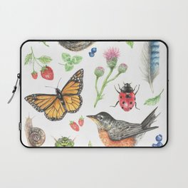 Flora and Fauna of Summer Laptop Sleeve