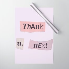 thank you next - Ariana - white Wrapping Paper