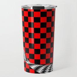 Schwarz rot weiss Travel Mug