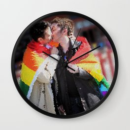 Destiel Pride Stained Glass Wall Clock