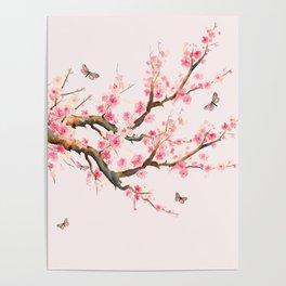 Pink Cherry Blossom Dream Poster