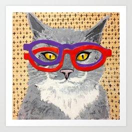 Frisky Four-Eyes Art Print